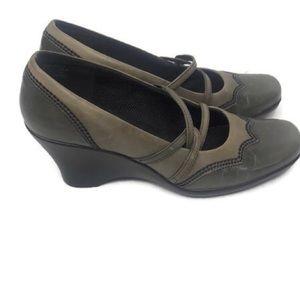 Clarks Women's Grey Wedge Heel Shoes